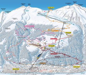 Schatzalp Strela Winterkarte
